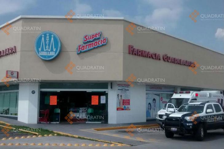 Asaltan farmacia Guadalajara roban más de 2 mil pesos en