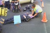 accidente motociclista impactada 25denov2015