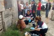 hombre golpeado por su hijo en colonia Tonatiuh